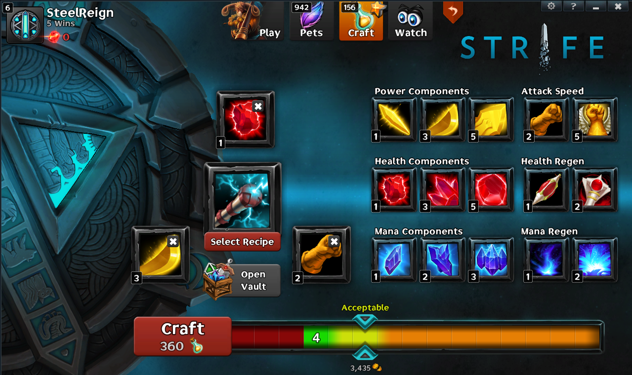 Strife - crafting