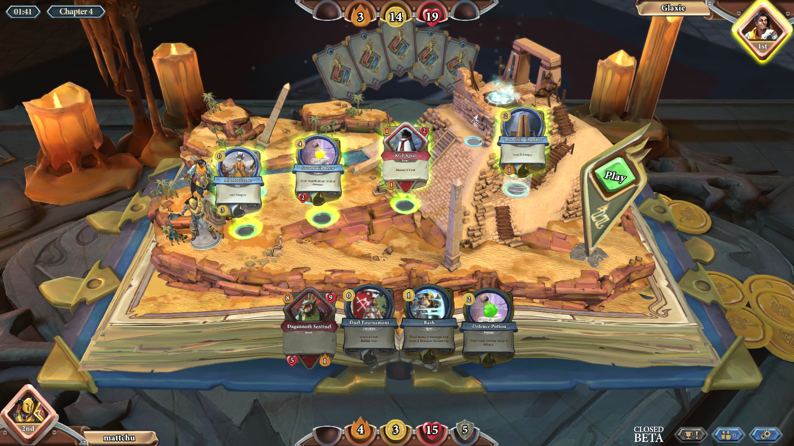 runescape chronicle 4 cards round rules